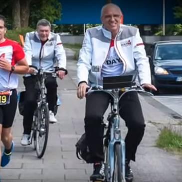 Enschedeërs lopen van Hamburg naar Rotterdam