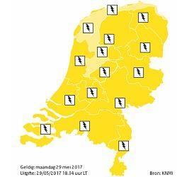 Code geel: mogelijk 'pittige' onweersbuien
