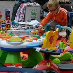 Kindermarkt bij winkelcentrum Palet