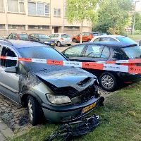 Autobrand in Tienhovenstraat