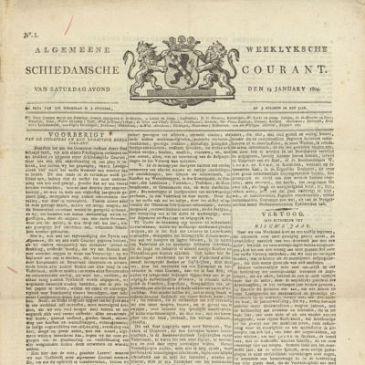 Oudste Schiedamse krant gevonden
