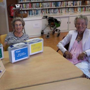 Visiteclubs Seniorenwelzijn zijn blij met spelletjes Bloesemtocht