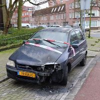 Autobrand in Lekstraat