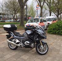 Traumaheli voor gewonde motorrijder