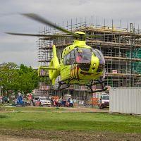 Traumahelikopter op voormalig ziekenhuisterrein