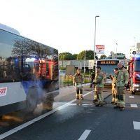 Bus op Hoekse Lijn vat vlam