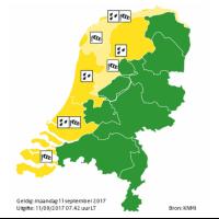 Weerwaarschuwing ook voor Schiedam