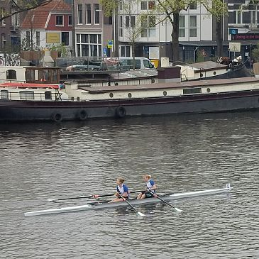 Schager meiden roeien op de Amstel