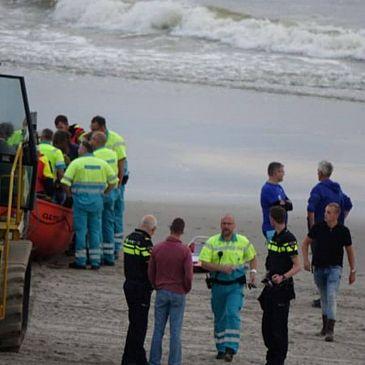 Ongeluk bij oefening reddingsbrigade Callantsoog