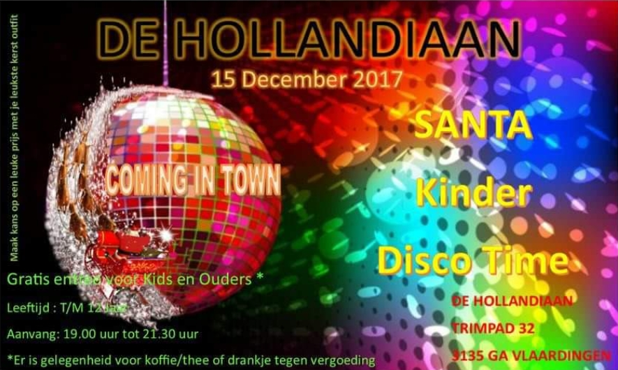 Kinderdisco bij de Hollandiaan