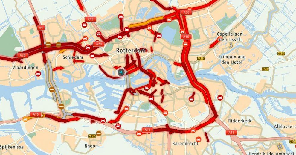 Verkeersinfarct legt hele regio plat