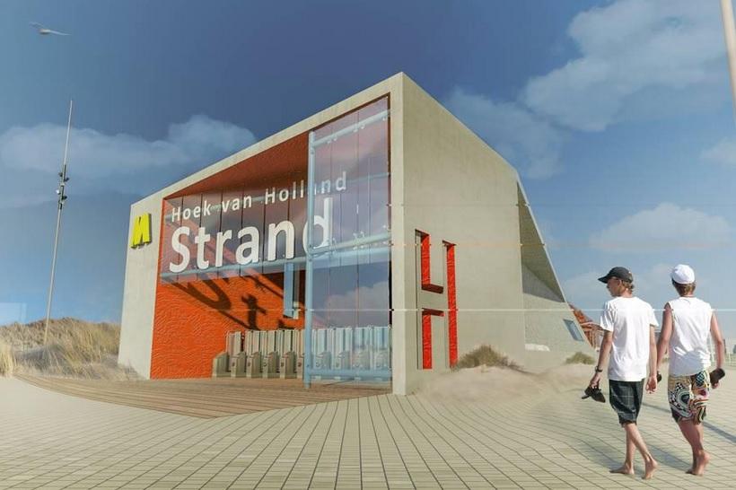 Metro pas in2021 naar strand