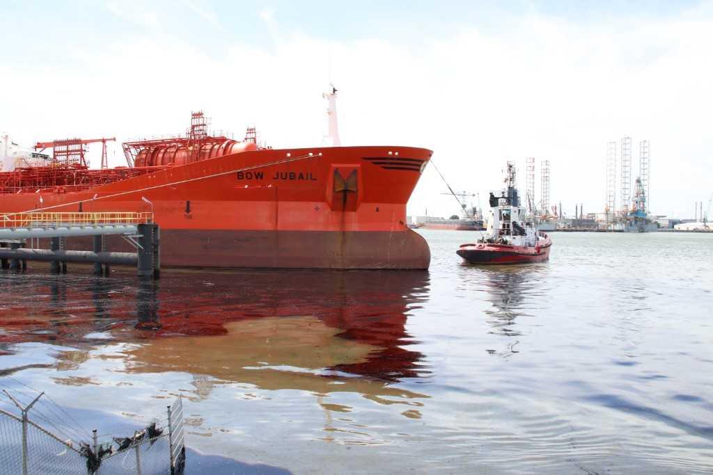 Olielucht na aanvaring schip