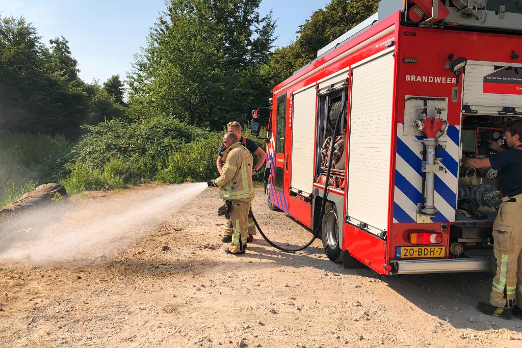 Brandweer extra alert door droogte