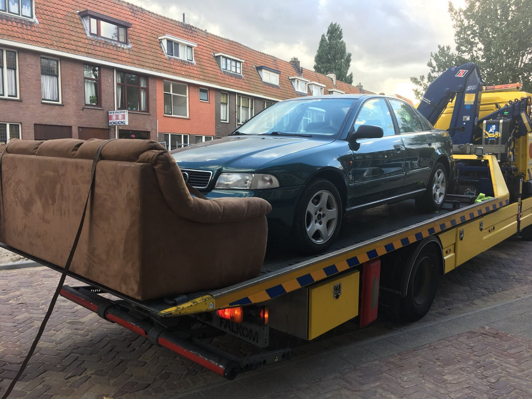 Vette pech: auto weg