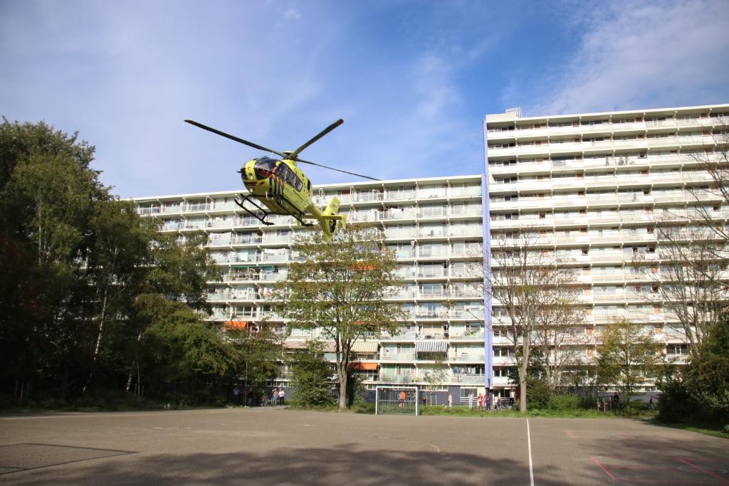 Traumahelikopter voor medische noodsituatie