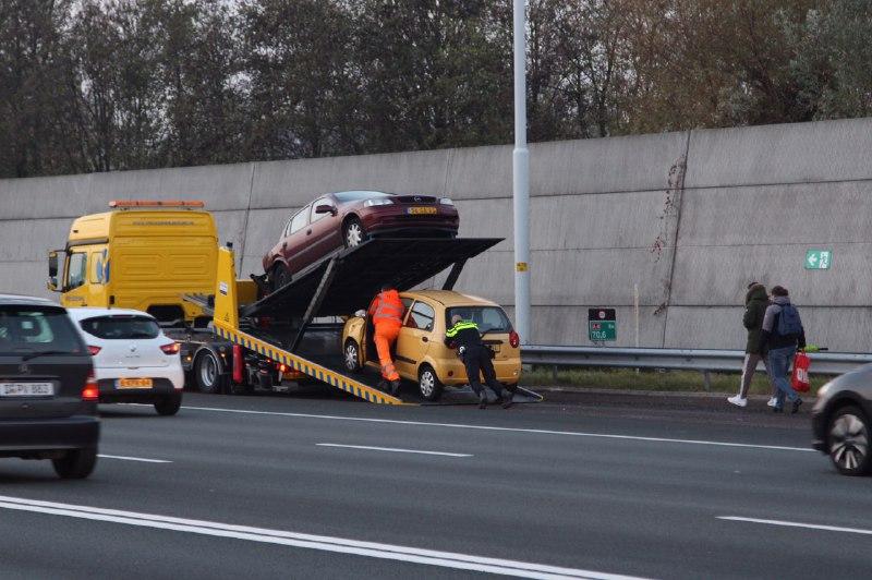Aanrijding A4 bij Beneluxtunnel