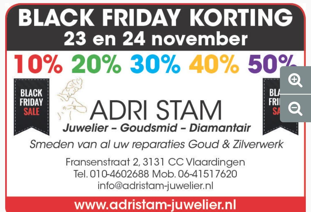 Black Friday Sale bij Adri Stam Juwelier