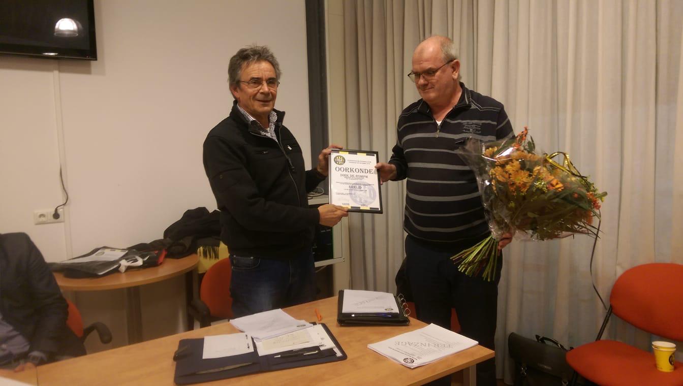 Dirk de Romph benoemd tot erelid van VFC