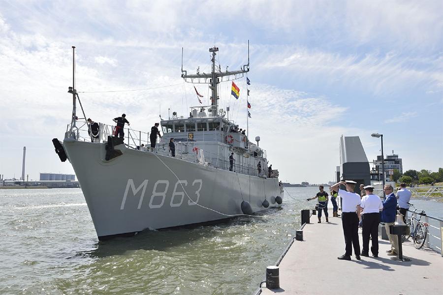 Marineschip komt naar Vlaardingen