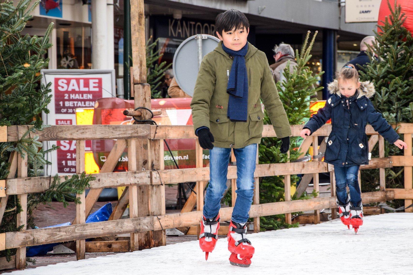 Toch nog twee dagen een schaatsbaan in de stad