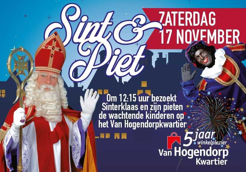 Sint en Pieten op het Van Hogendorpkwartier!