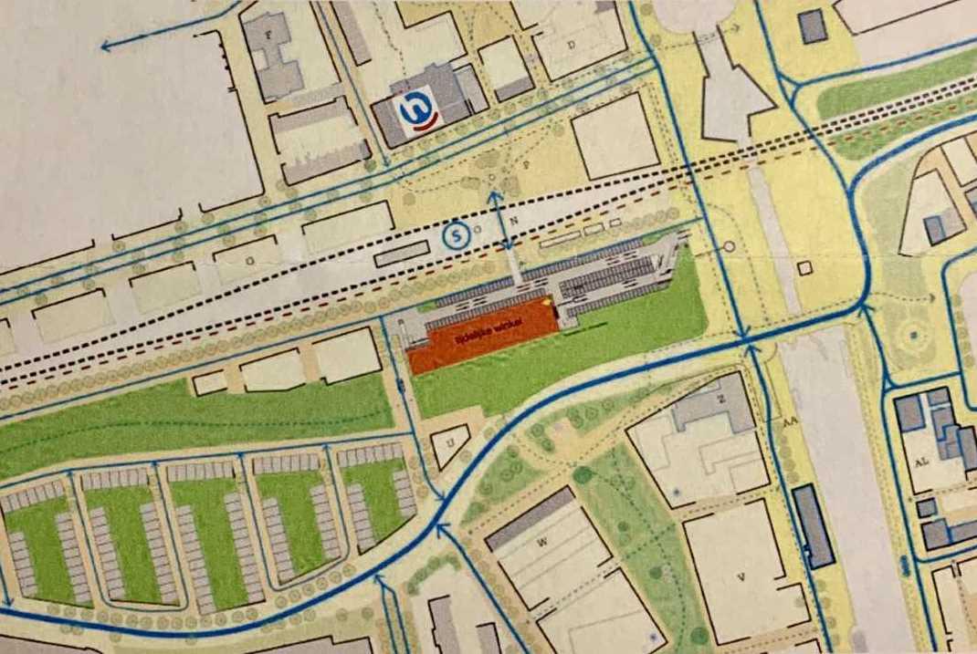 Tijdelijke Hoogvliet achter station Vlaardingen-Centrum
