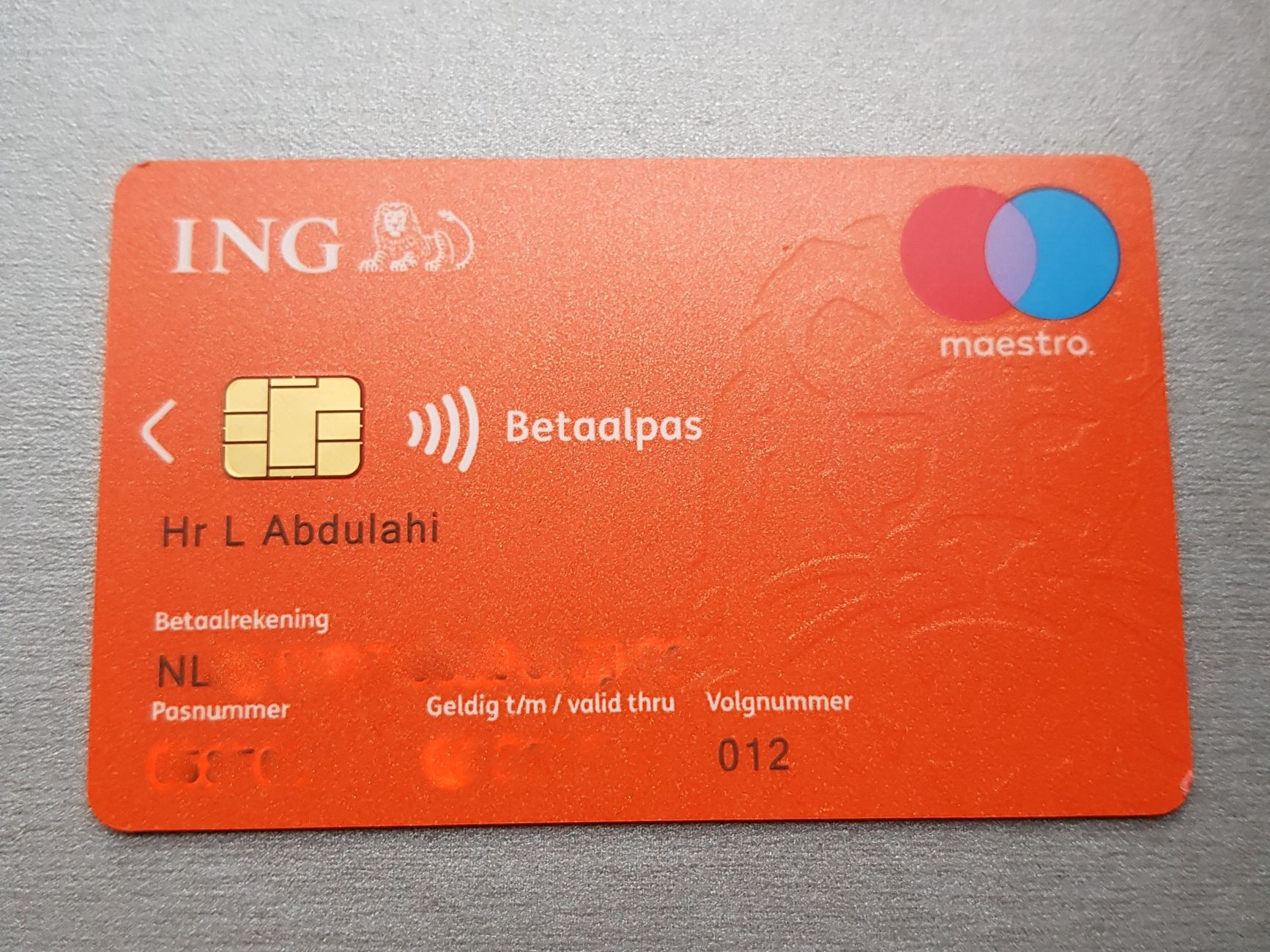 ING Bankpas gevonden