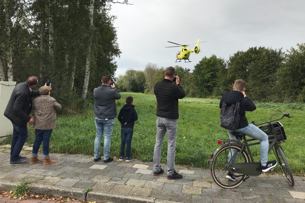Traumahelikopter landt bij McDonalds