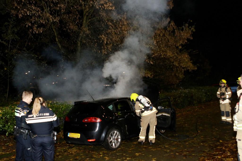Auto in brand gestoken aan de Dillenburgsingel