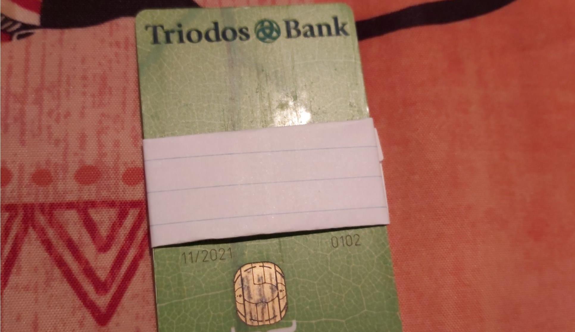 Triodos Bankpas gevonden