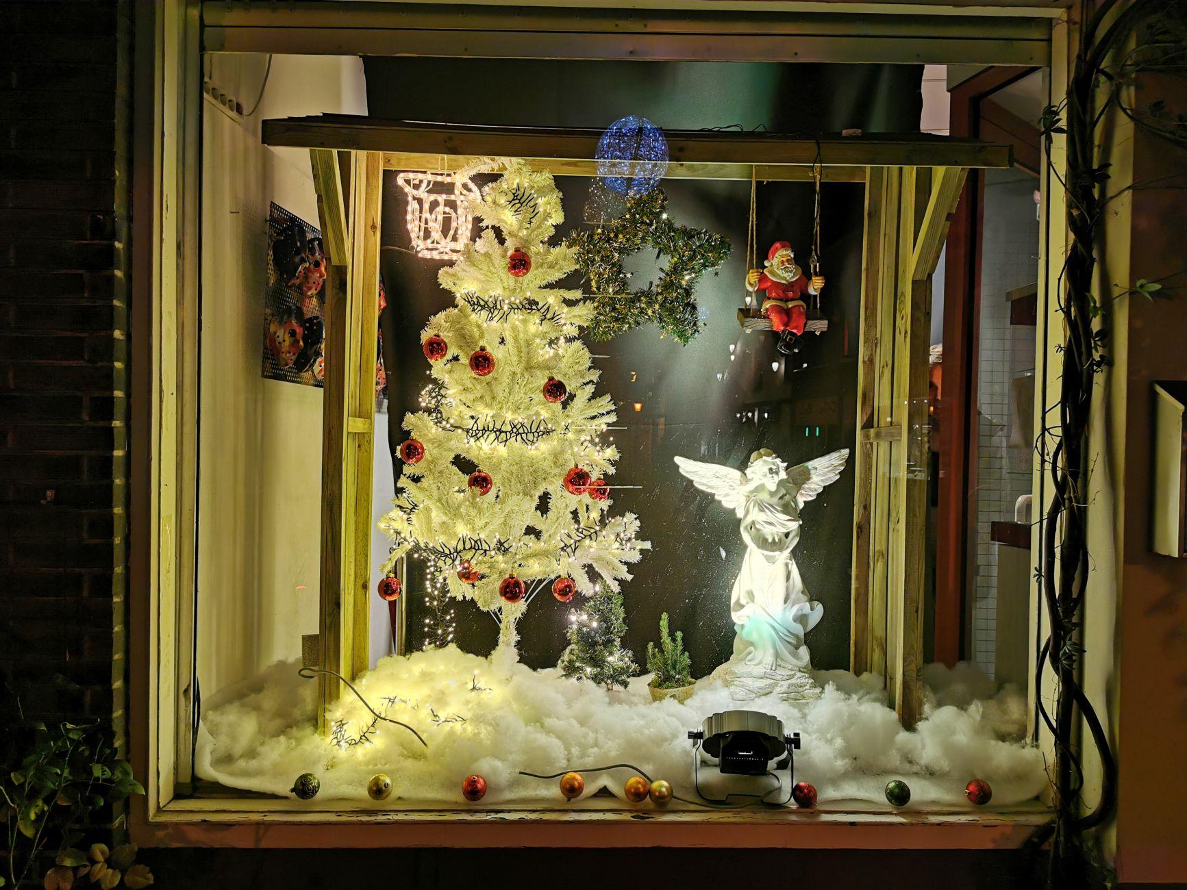 Hoogstraat in kerstsfeer