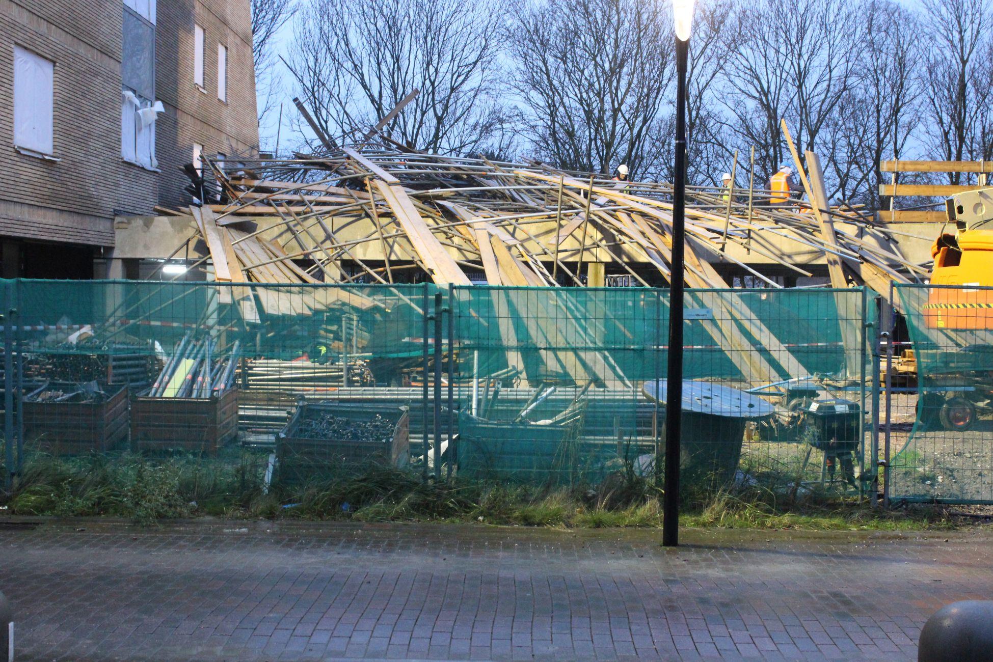 'Donderend geraas': Steiger begeeft het bij nieuwbouw Holy Résidence!