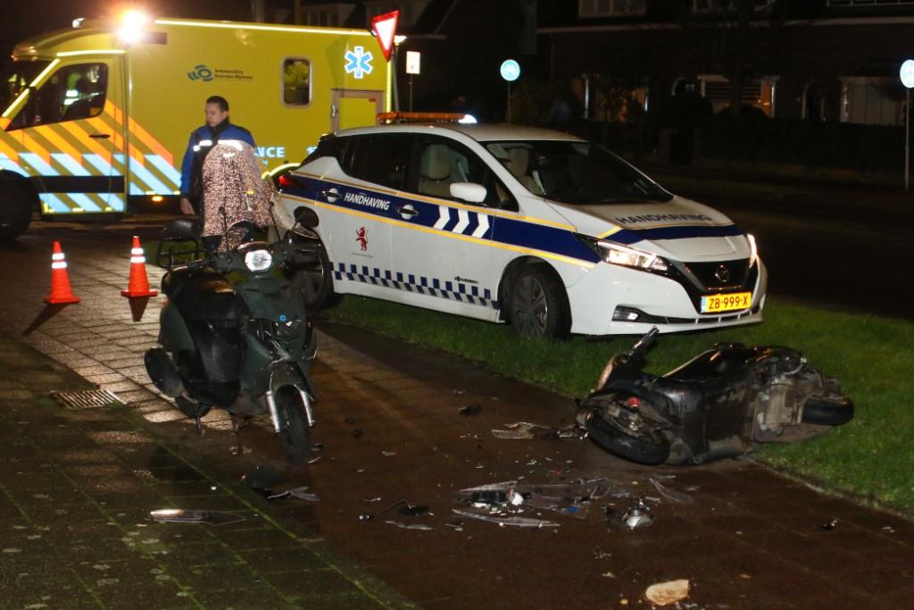 Scooterrijder gewond bij aanrijding