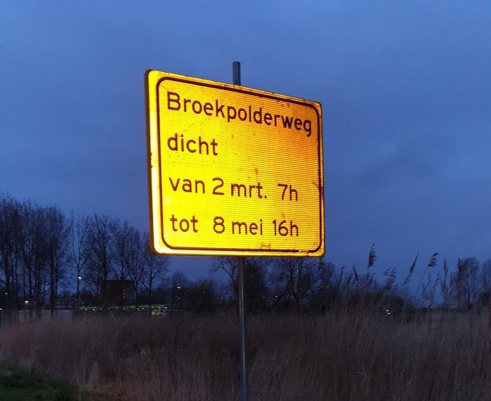 Broekpolderweg gaat dicht