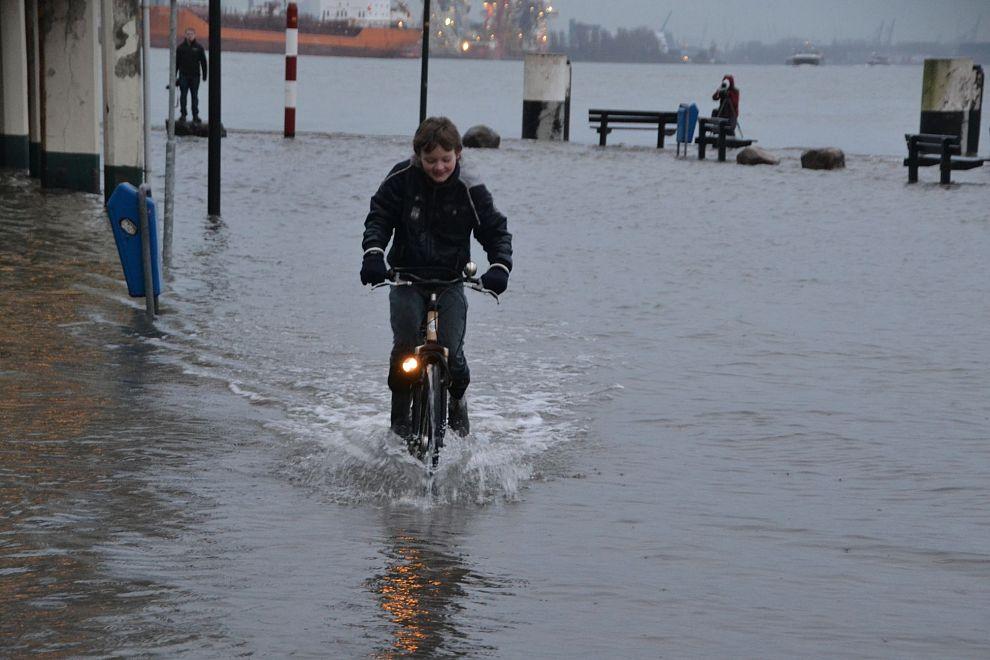 Hoogwater in Vlaardingen
