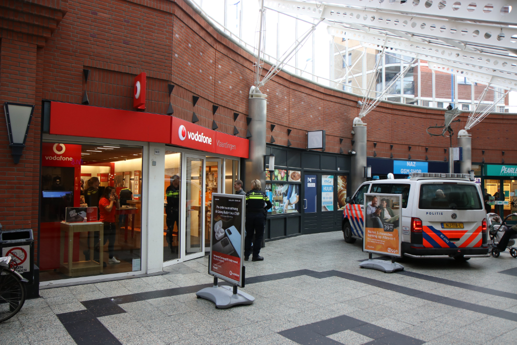 Overval op Vodafonewinkel Liesveld
