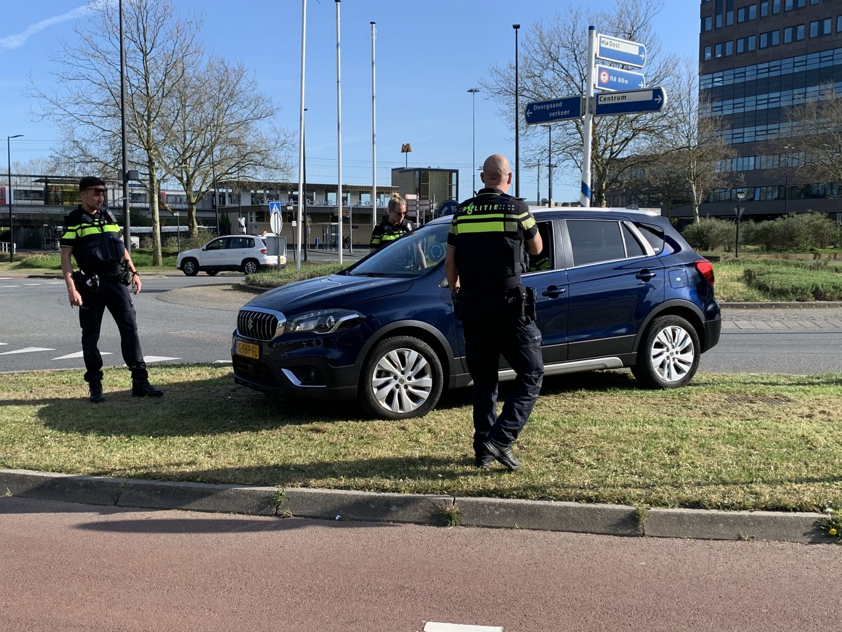 Politieachtervolging eindigt bij station Vlaardingen-Oost