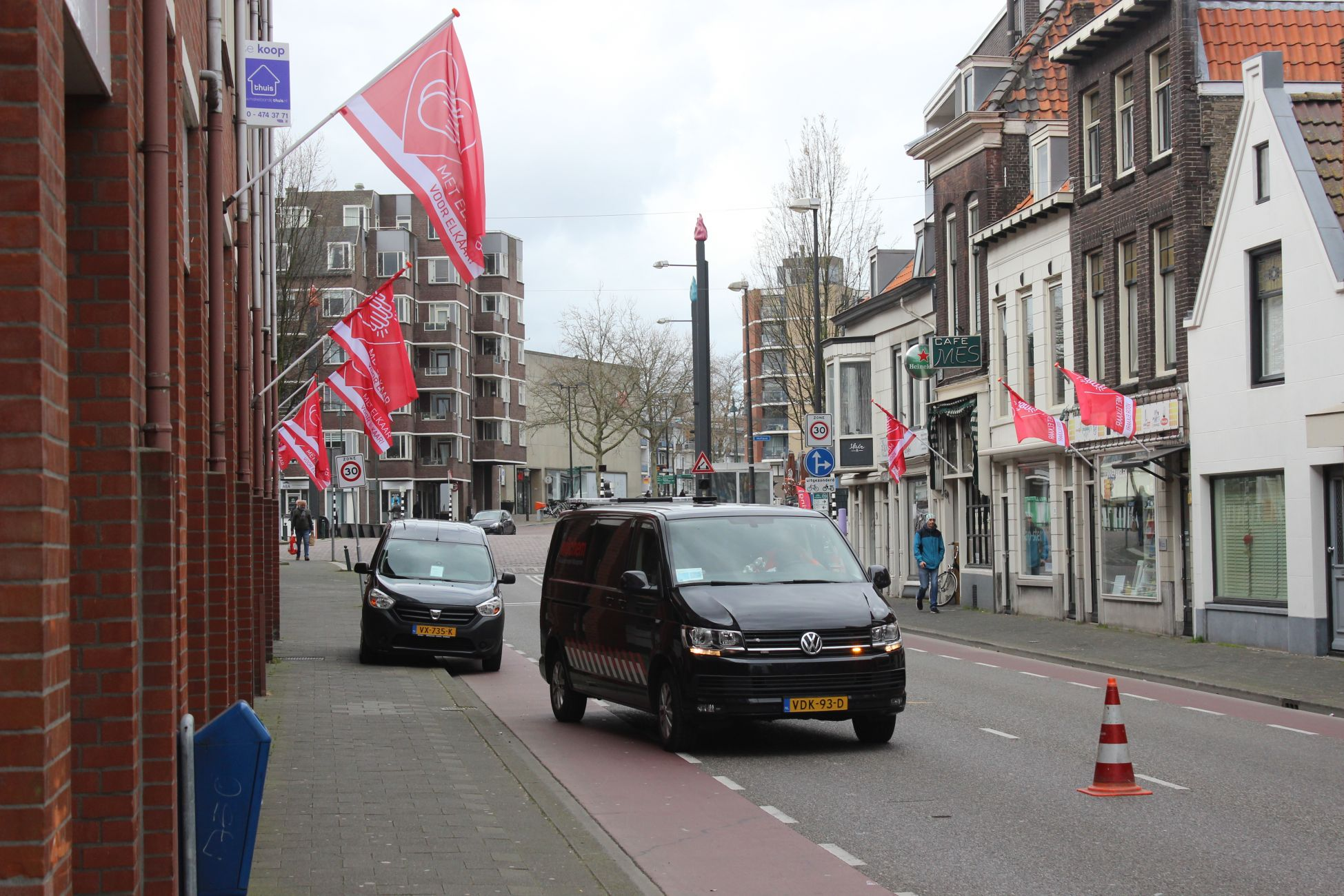 De vlag gaat uit in Vlaardingen