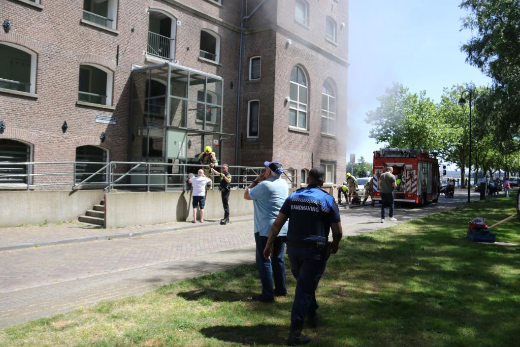Grote brand in de Pelmolen Westhavenkade