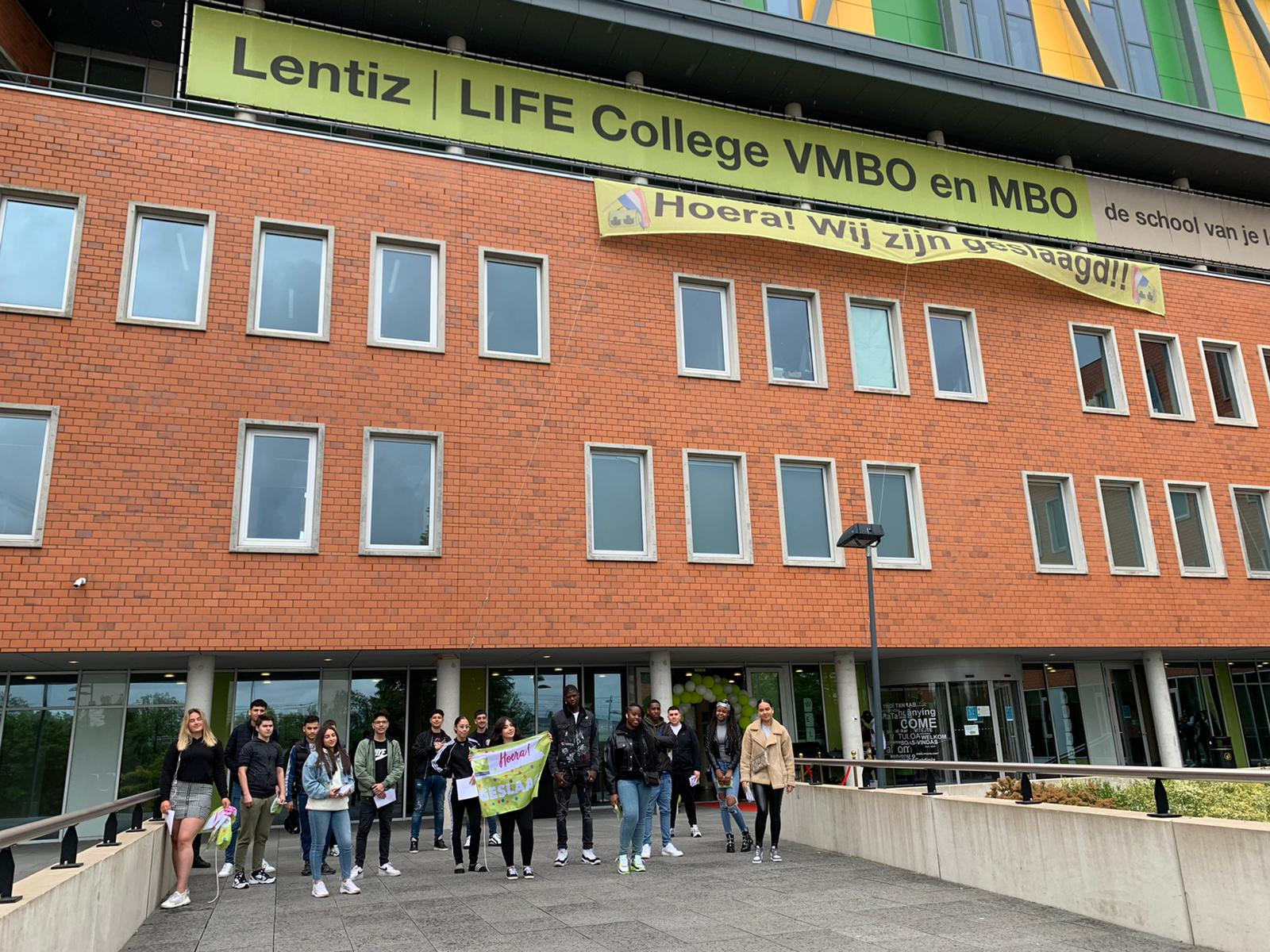 Groot feest op Lentiz LIFE College: 100 % geslaagd!