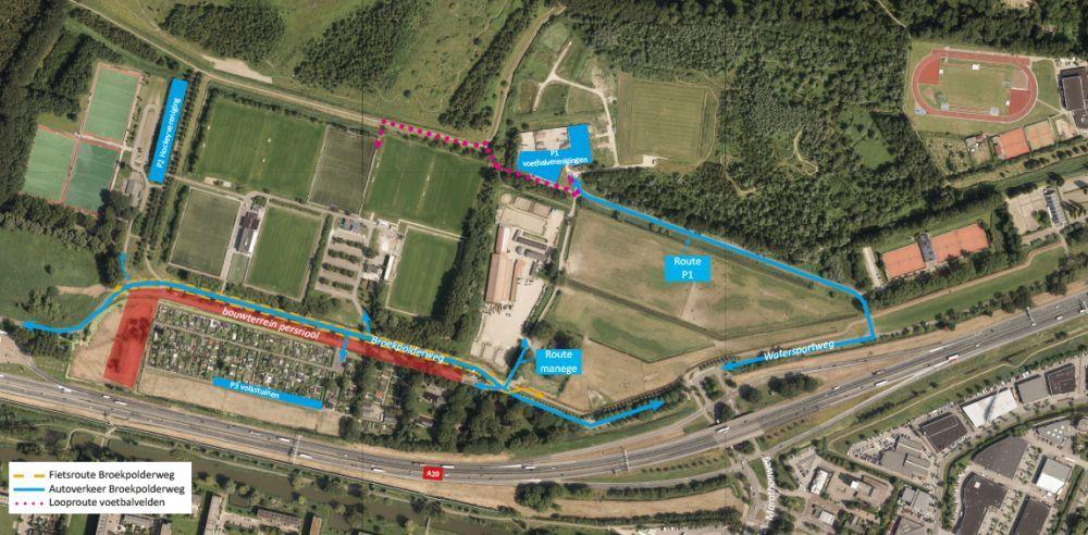 Nieuwe rioolpersleidingen onder Broekpolderweg