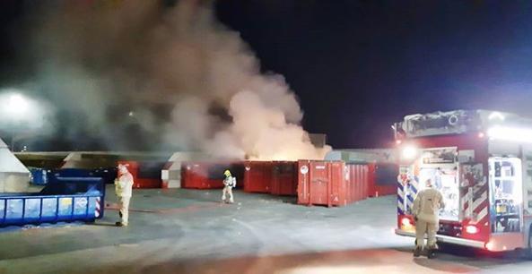 Brand aan de Kreekweg snel onder controle