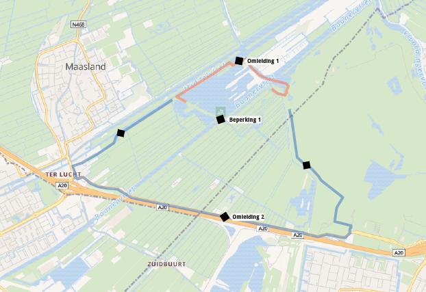 Fietsbrug over Boonervliet bij Foppenplas dicht