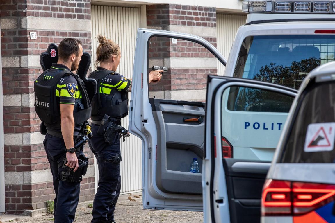 Twee mannen aangehouden in de Coornhertstraat