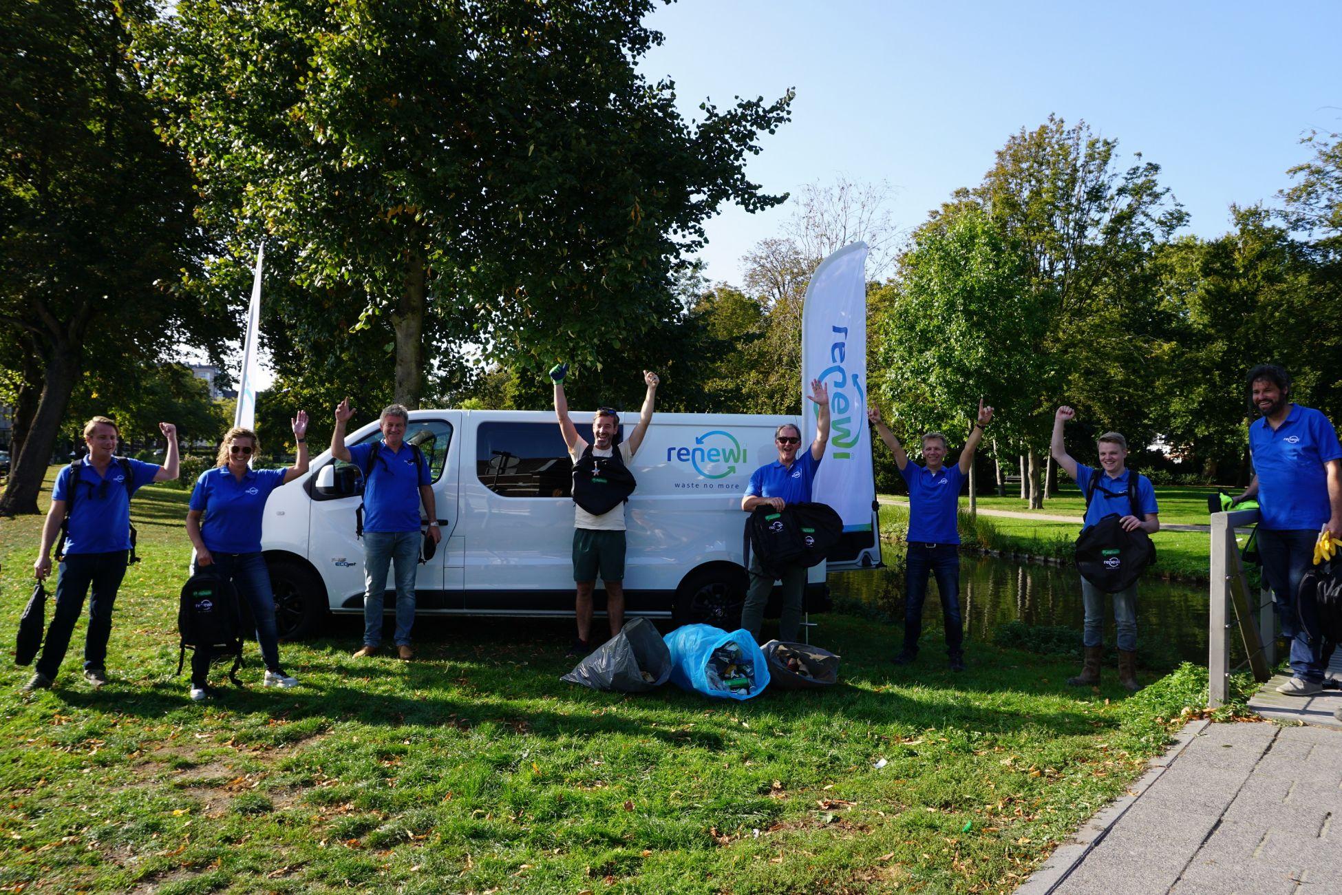 Renewi ruimt op in Vlaardingen tijdens World Cleanup Day
