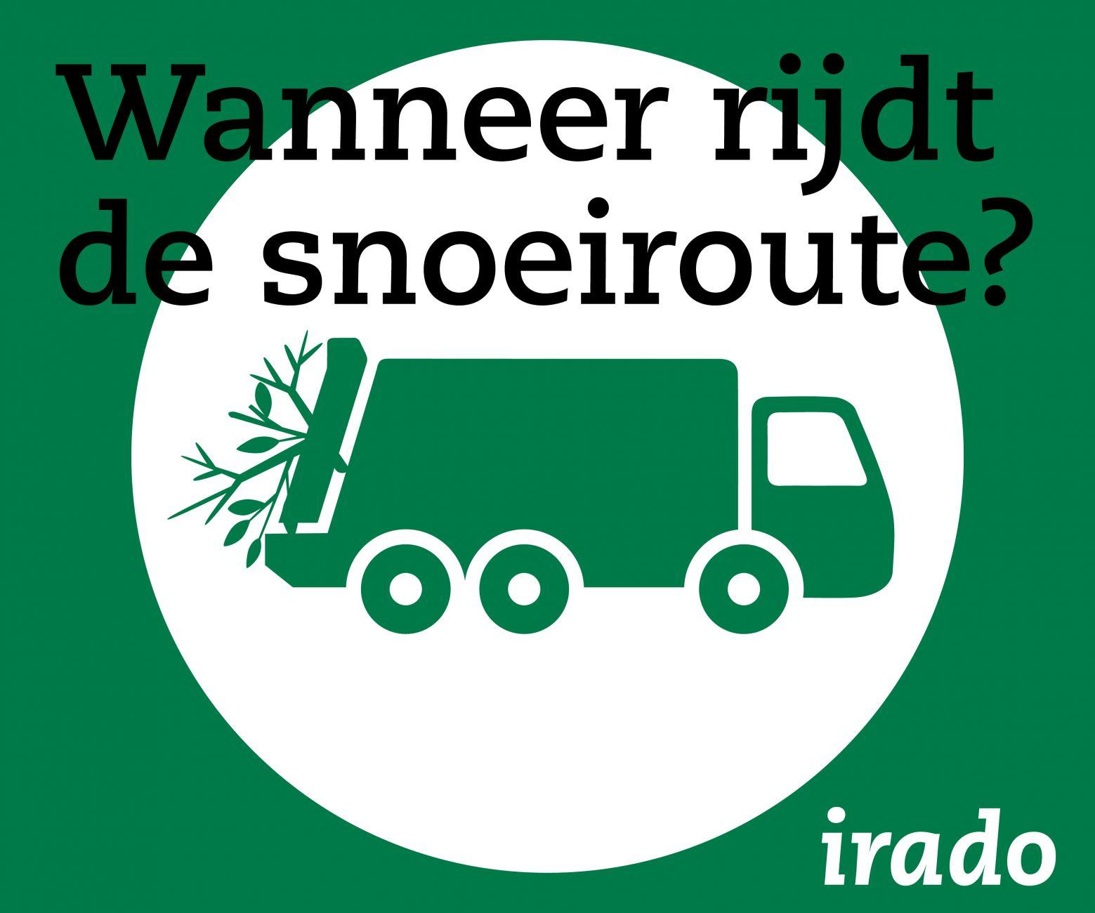Irado rijdt vijf keer een snoeiroute