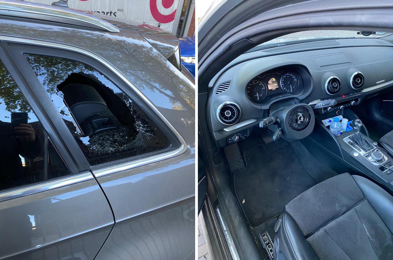 Stuur uit Audi gestolen in Paterstraat