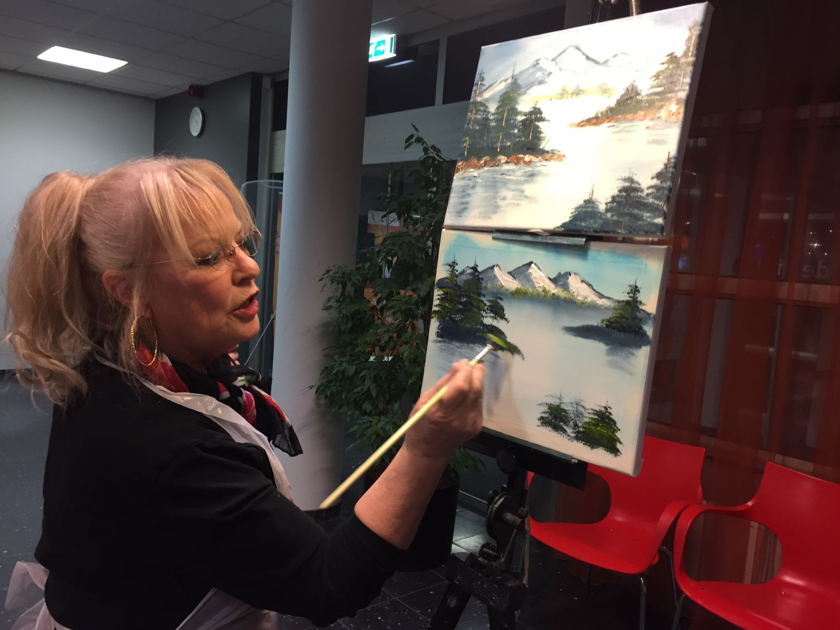 De Bob Ross-methode: schilderworkshop door Nelie Meininger