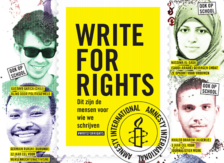 Amnesty Schrijfmarathon: Write for Rights